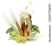 barley beer illustration | Shutterstock .eps vector #1320729692