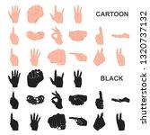 hand gesture cartoon icons in...   Shutterstock . vector #1320737132