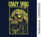 crazy skull remastered...   Shutterstock .eps vector #1320753125