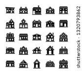 house designs icons pack | Shutterstock .eps vector #1320793862