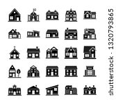 house designs icons collection  | Shutterstock .eps vector #1320793865