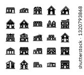 house architectures icons pack  | Shutterstock .eps vector #1320793868