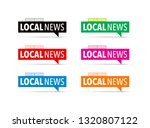 local news icon set   Shutterstock .eps vector #1320807122