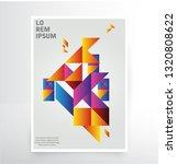 printbrochure  leaflet  flyer ... | Shutterstock .eps vector #1320808622