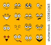 happy symbol emotions icons... | Shutterstock .eps vector #1320816365