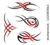 tribal art | Shutterstock .eps vector #132085862