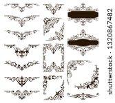 ornaments elements floral retro ... | Shutterstock .eps vector #1320867482