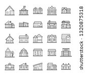 house designs icons collection  | Shutterstock .eps vector #1320875318