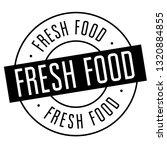 fresh food stamp on white... | Shutterstock .eps vector #1320884855