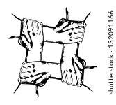 hands holding each other in...