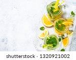 lemonade set. lemonade  mojito... | Shutterstock . vector #1320921002