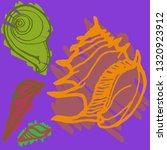 summer new set animal shell... | Shutterstock . vector #1320923912