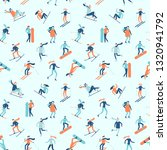 snowboarding and skiing... | Shutterstock . vector #1320941792