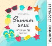 summer sale vector background....   Shutterstock .eps vector #1320951518