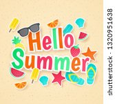 summer vector background. paper ...   Shutterstock .eps vector #1320951638