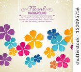 flower backdrop | Shutterstock .eps vector #132095756