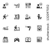 hotel icons   set 2  | Shutterstock .eps vector #132097052