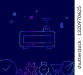 projector alarm clock line icon....