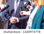 journalists making media... | Shutterstock . vector #1320973778