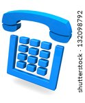 telephone   3d   Shutterstock . vector #132098792