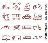 transport   minimal thin line... | Shutterstock .eps vector #1321021928