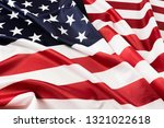 American Flag Waving Background....