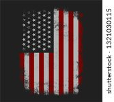 grungy american flag background ... | Shutterstock .eps vector #1321030115