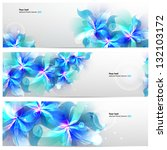 set of banners with light blue... | Shutterstock .eps vector #132103172