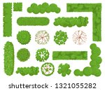 top view trees and bushes.... | Shutterstock .eps vector #1321055282