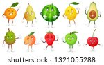 cartoon fruit character. happy... | Shutterstock .eps vector #1321055288