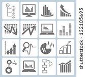 graph  chart set | Shutterstock .eps vector #132105695
