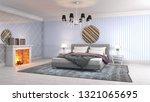 bedroom interior. 3d... | Shutterstock . vector #1321065695