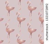 flamingo. rose gold. elegant... | Shutterstock .eps vector #1321072892