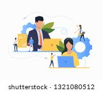 communication flat icon.... | Shutterstock .eps vector #1321080512