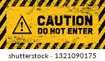 stop signs do not enter danger...   Shutterstock .eps vector #1321090175