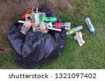 garbage pile bags plastic black ... | Shutterstock . vector #1321097402