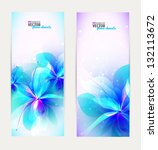 set of abstract floral banners. | Shutterstock .eps vector #132113672