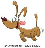 Stock vector happy dog running 132115322