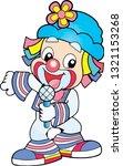 funny clown  circus  clown head ...   Shutterstock .eps vector #1321153268