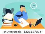 this illustration shows a man... | Shutterstock .eps vector #1321167035