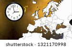 daylight saving time. dst. wall ... | Shutterstock . vector #1321170998