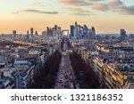 magnificent look from arc de... | Shutterstock . vector #1321186352