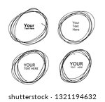 hand drawn circle line sketch.... | Shutterstock .eps vector #1321194632