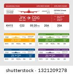 set of different boarding pass... | Shutterstock .eps vector #1321209278