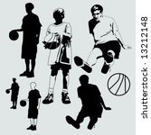 basketball kids | Shutterstock .eps vector #13212148