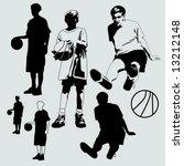 basketball kids | Shutterstock .eps vector #13212148