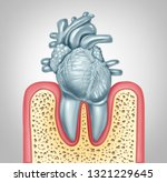 dental care or oral health and... | Shutterstock . vector #1321229645