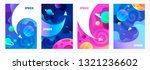 space explore. flying spaceship.... | Shutterstock .eps vector #1321236602