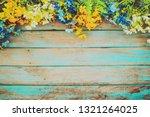 flowers blossom on vintage...   Shutterstock . vector #1321264025