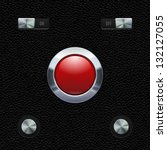 hi end ui analog red button...